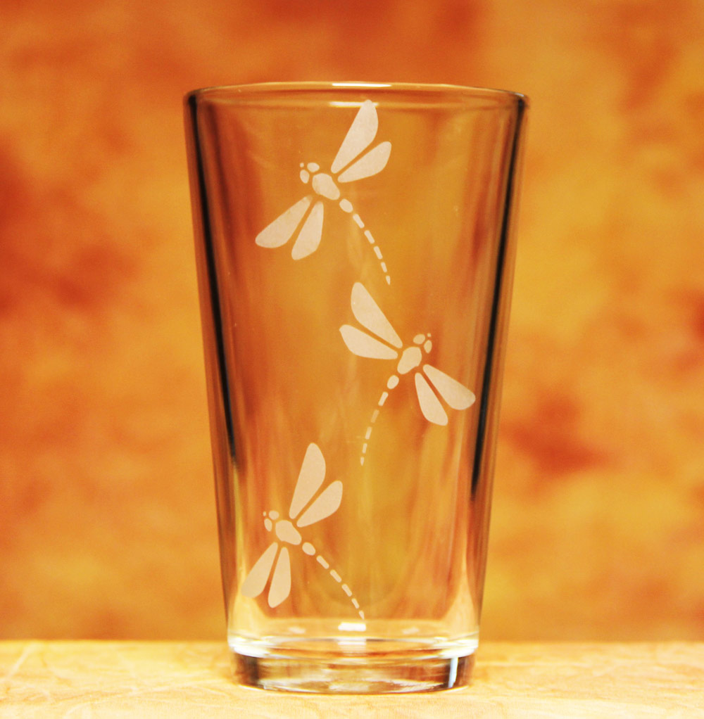Dragonfly Water Glass