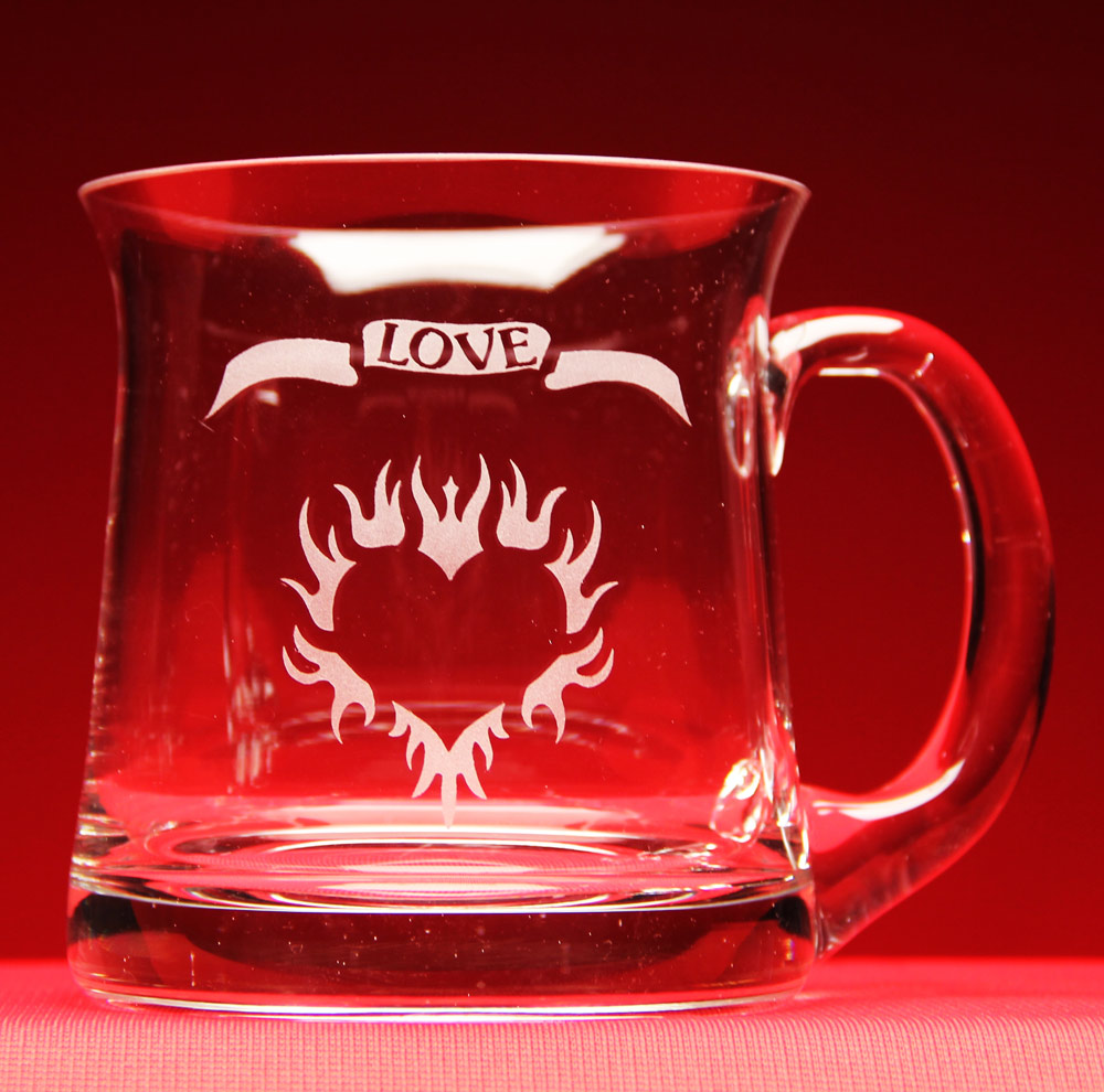 Flaming Heart Love Mug