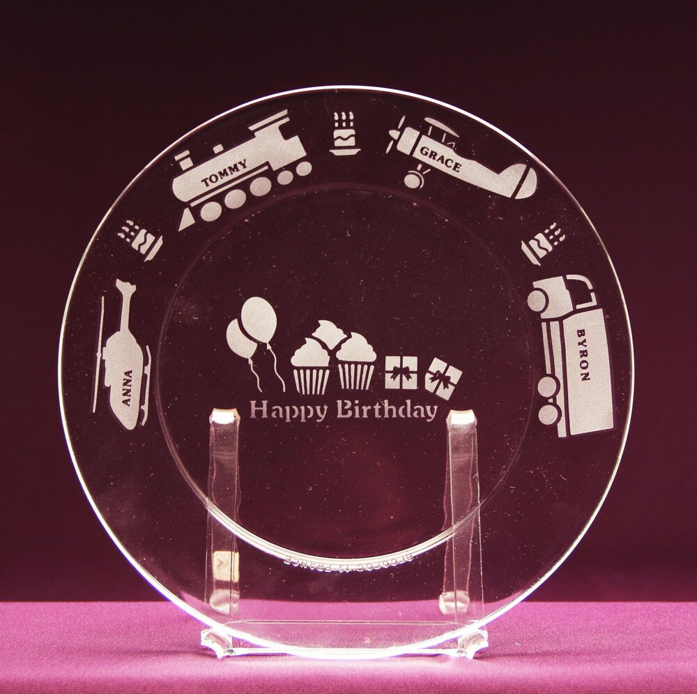 On the Move Birthday Plate