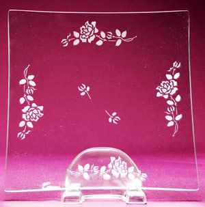Long Stem Rose Platter