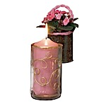 Gold Filigree Pillar Candle Holder