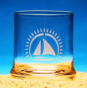 Sailing Away Cocktail Glass