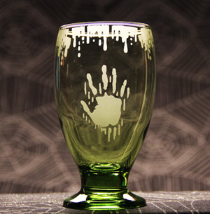 Bloody Hand Glass