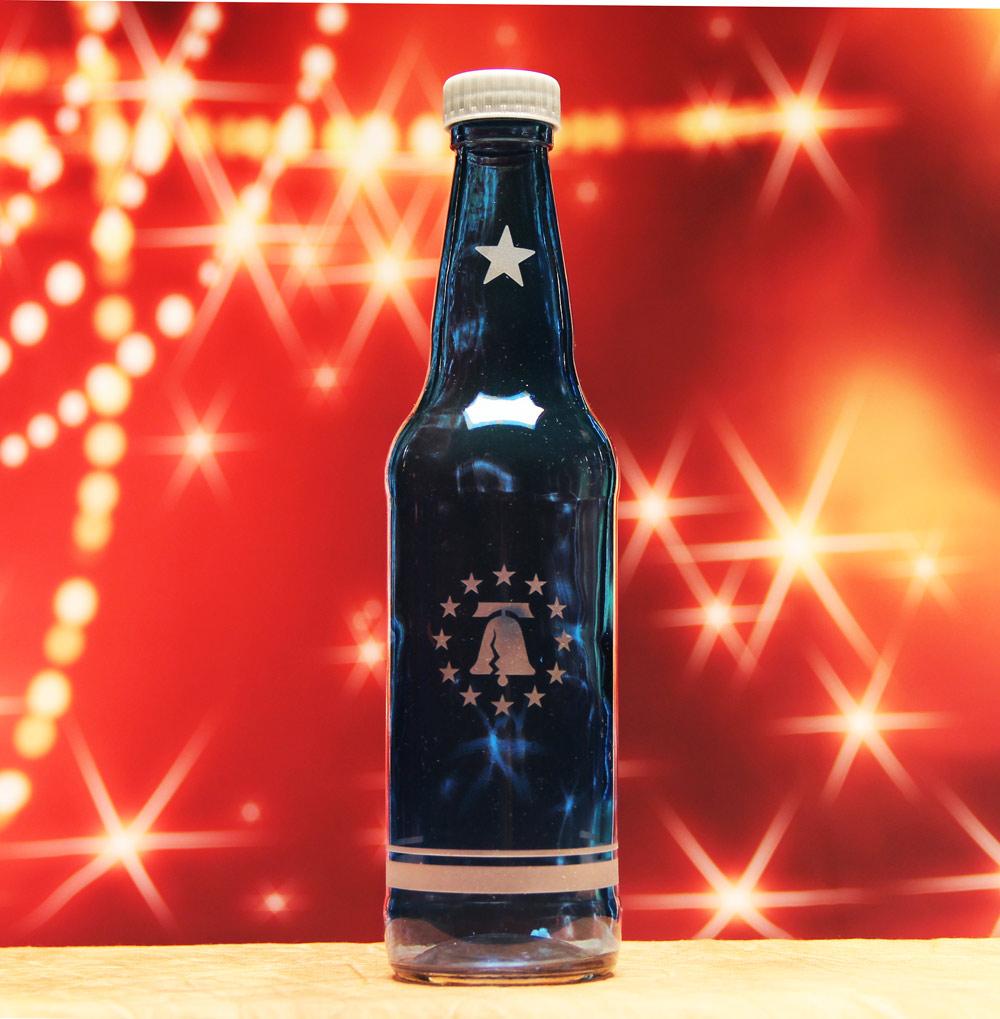 Blue Liberty Bell Bottle