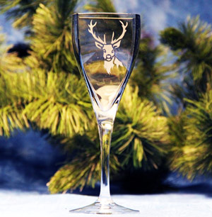 Deer Head Wine Glass