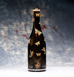 Bejeweled Butterfly Wine Bottle