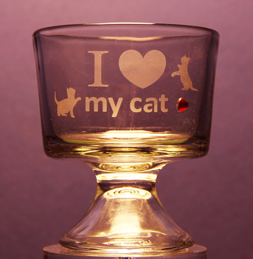 I Love My Cat Dinner Bowl