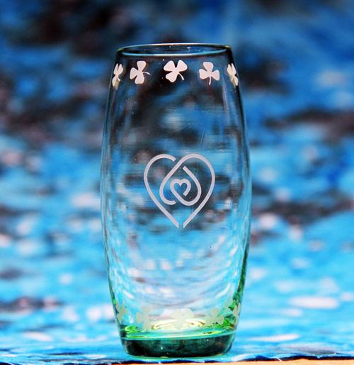 Heart Knot Shot Glass