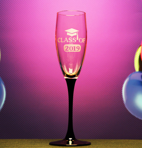 Graduation Champagne Glass