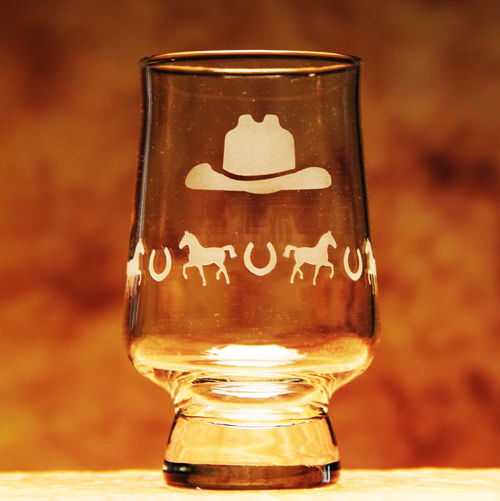 Cowboy Hat Tumbler Glass