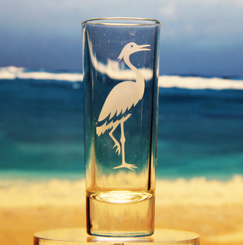 Crane Shot Glass