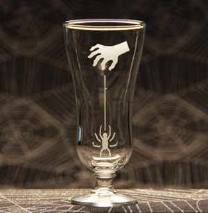 Dangling Spider Parfait Glass