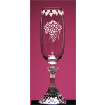 Clusters N Corks Champagne Flute