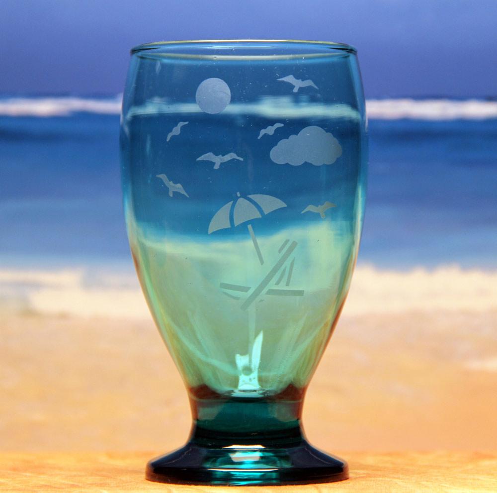 Beach Chair Water Goblet