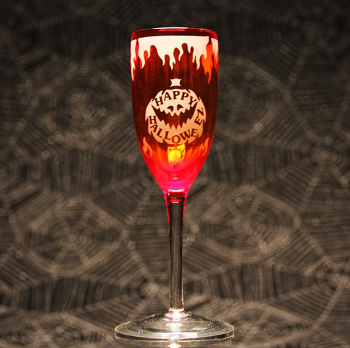 Happy Halloween Wine Glass