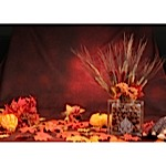 Harvest Blessings Glass Block Centerpiece