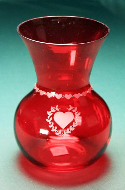 Valentine Red Vase