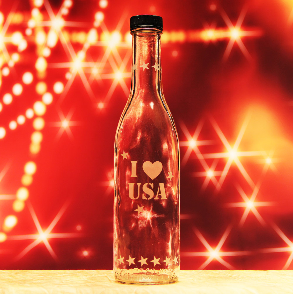 I Love USA Bottle
