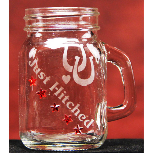 Just Hitched Mason Jar Mugs