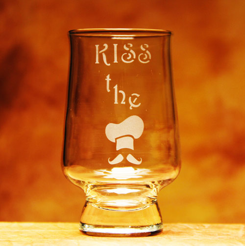 Kiss The Cook Glass