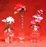 Live Laugh Love Vase Trio