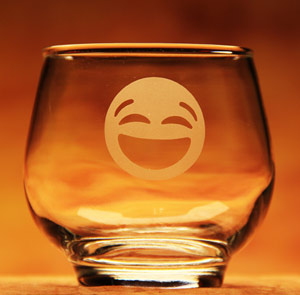 Laughing Emoji Glass