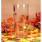Autumn Leaves and Pumpkins Vase