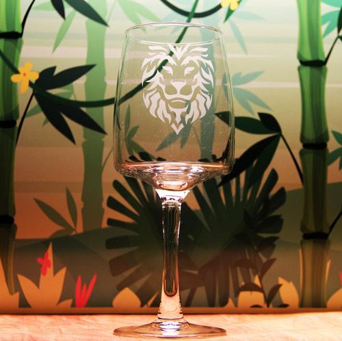 Lion Head Wine Glass