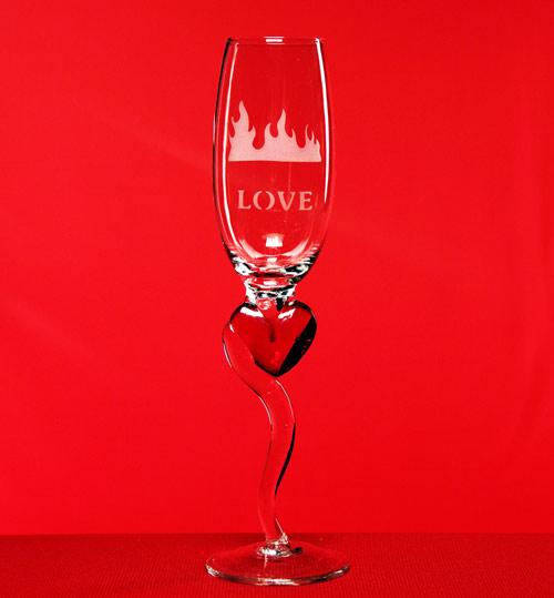 Valentine Champagne Glass