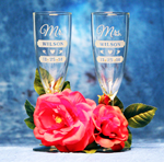 Mr Mrs Toasting Glasses