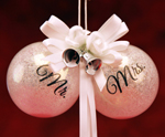 Mr N Mrs Wedding Ornaments