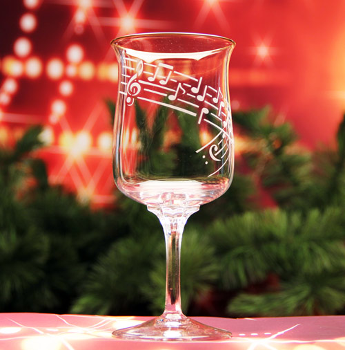 Sheet Music Wine Glass