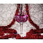 Happy New Year Champagne Glass Centerpiece