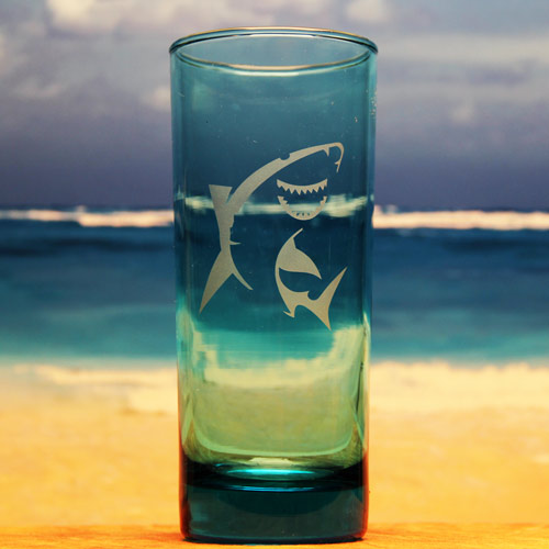 Shark Water Glass