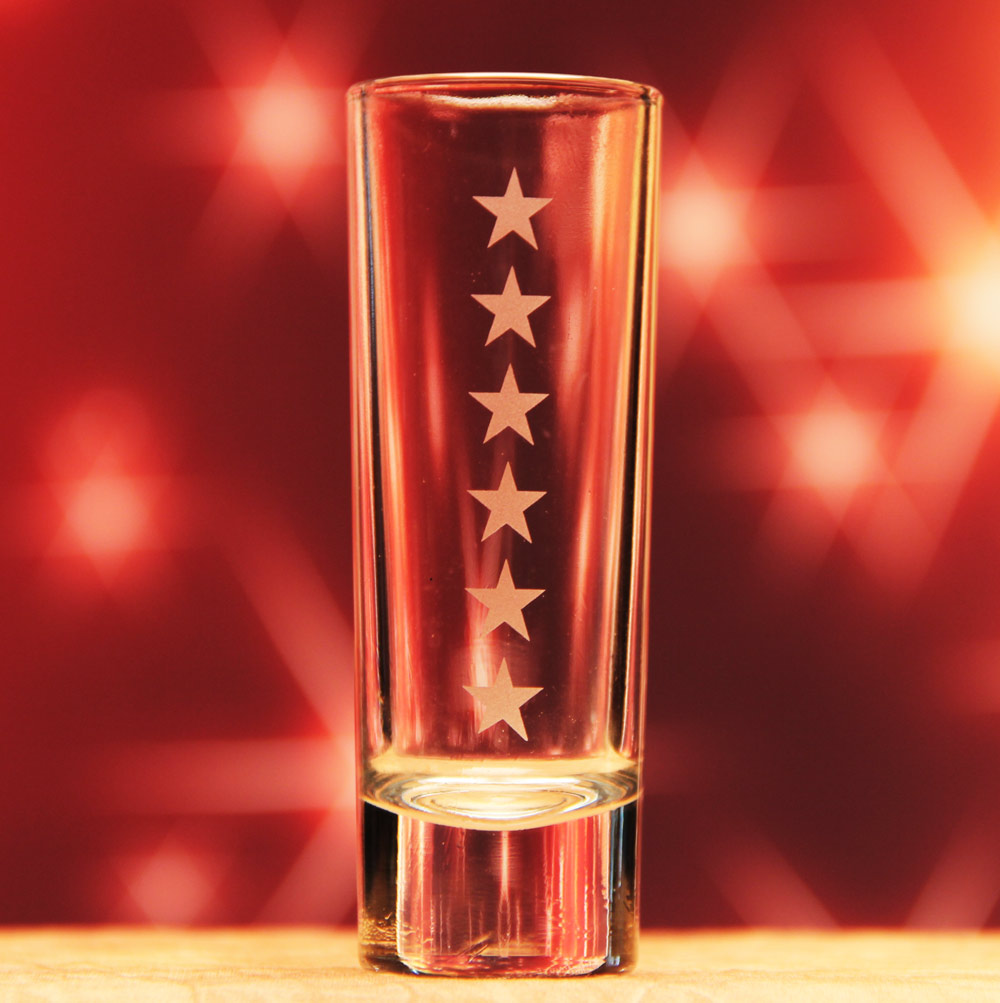 Star Border Shot Glass