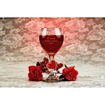Valentine's Day  Wine Glass Gel Candle