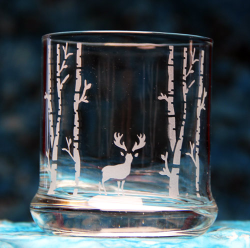 Woodland Deer Glass