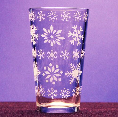 Snow Storm- Drinking Glass