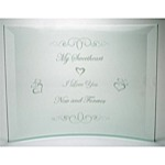 Sweetheart Etched Beveled Frame