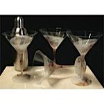 Etch Bath Martini Glasses