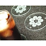 Etched Flower Coasters