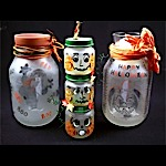 Ghost & Pumpkin Tealight Jars