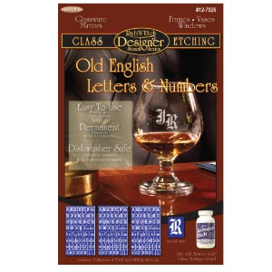 12-7026 - Old English Letters & Numbers