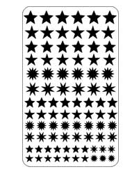 19-2705 - ETCH or SANDETCH stencil Stars