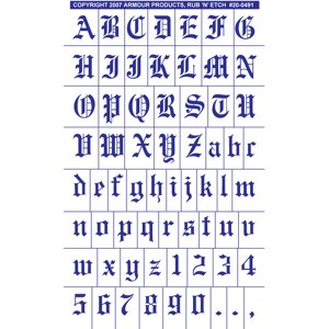 20 0491 old english full alphabet with numbers etchworld 20 0491 old english full alphabet with numbers thecheapjerseys Choice Image
