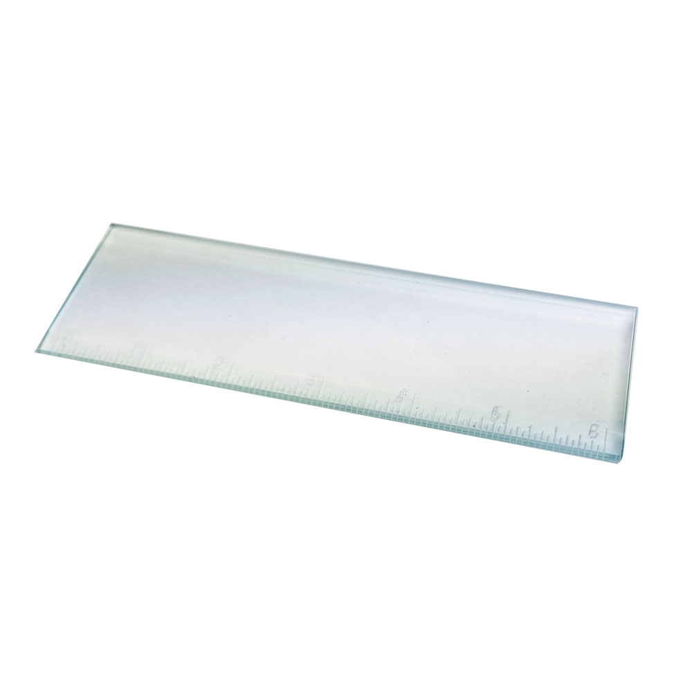 "Clear-2""x6"" Bevel Glass RULER"