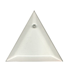 "Clear-4"" Triangle Thick Bevel"