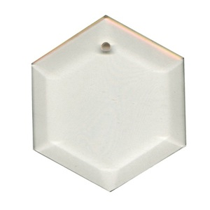 "29-2471 - Clear-3.5"" Hexagon Thick Bevel"