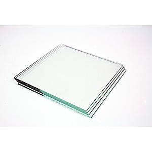 29-2519 - Clear Glass Square 4 pak  No Holes