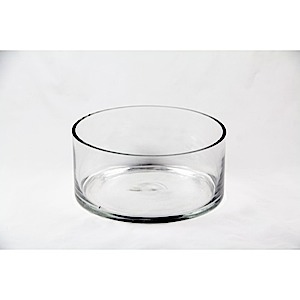 "30-2351 - Clear Vase 9"" dia x 4"" high"